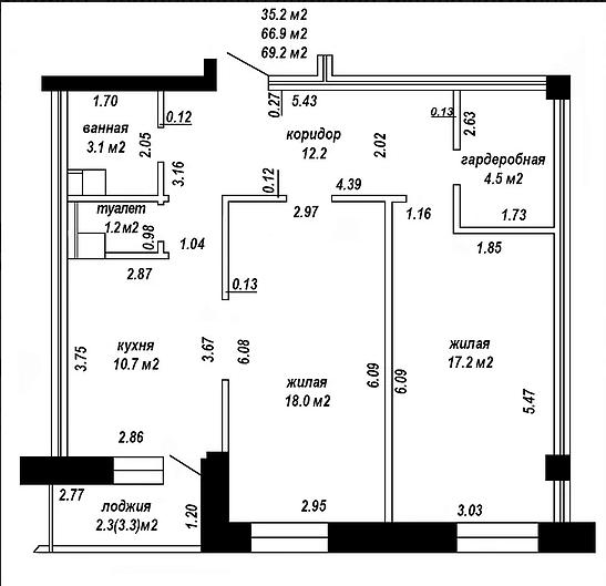 Квартира пенал